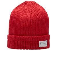 Visvim Cotton Knit Beanie Red