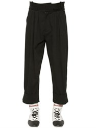 J.W.Anderson Pleated Cotton Canvas High Waisted Pants