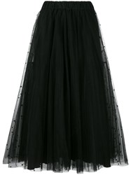 P.A.R.O.S.H. Long Tulle Skirt Black