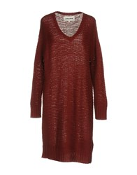 5Preview Short Dresses Maroon