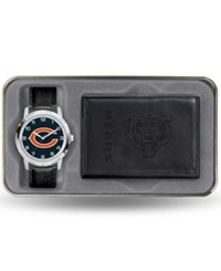 Rico Industries Chicago Bears Watch And Wallet Gift Set Black Team Color