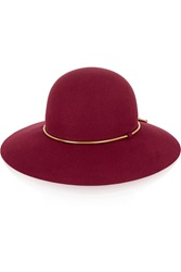 Lanvin Chain Trimmed Rabbit Felt Hat
