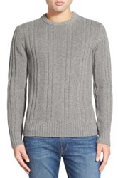 Jack Spade 'Pollock' Ribbed Wool Blend Crewneck Sweater Gray