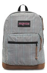 Jansport Men's 'Right Pack' Backpack Black Black White Suited Plaid