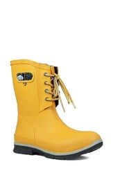 Bogs Amanda Plush Waterproof Rain Boot Mustard