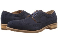 Trask Fiske Navy Water Resistant Suede Men's Lace Up Wing Tip Shoes