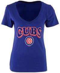 5Th And Ocean Chicago Cubs Sinker V Neck T Shirt Royalblue