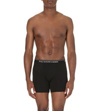Polo Ralph Lauren Pack Of Three Stretch Cotton Boxer Briefs Black