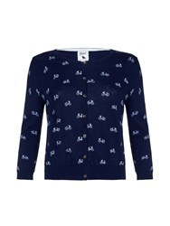 Yumi Bicycle Knit Cardigan Navy