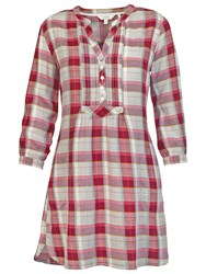 Fat Face Isabel Pretty Grid Check Tunic British Plum