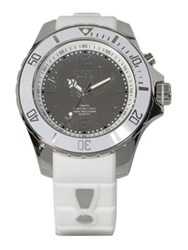 Kyboe Reflector White Silicone And Stainless Steel Strap Watch 48Mm