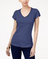 Inc International Concepts Cotton V Neck T Shirt Only At Macy's Chambray