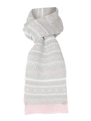 Lipsy Fairisle Knitted Scarf Pink