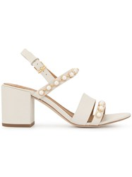Tory Burch Emmy 65 Pearl Sandals White