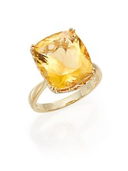 Effy Citrine And 14K Yellow Gold Ring
