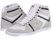 The Kooples Sport Smooth And Split Leather Sneaker White Men's Lace Up Casual Shoes