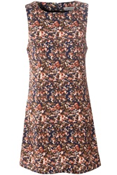 Alice And You Slash Neck Shift Dress Multi Coloured