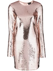 Tom Ford Sequinned Party Dress Nude And Neutrals