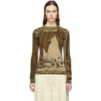 Acne Studios Gold And Brown Kittie Crewneck Sweater