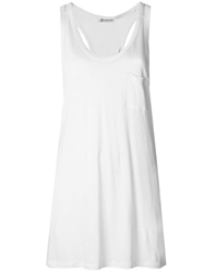 T By Alexander Wang Racerback Tank Top White