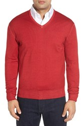 Robert Talbott Men's Merino Wool V Neck Sweater