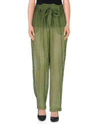 Masscob Trousers Casual Trousers Women Green