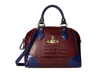 Vivienne Westwood Jungle Crocodile Top Handle Satchel Cherry Satchel Handbags Red