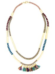 Megan Park 'Amaia' Tassle Duo Necklace Metallic