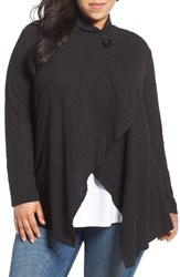 Bobeau Plus Size Women's One Button Textured Cardigan