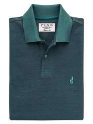Thomas Pink Lyell Texture Classic Fit Polo Shirt Deep Green Black