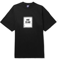 Noon Goons Printed Cotton Jersey T Shirt Black