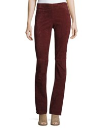 Joseph Lex Suede Boot Cut Pants Ruby