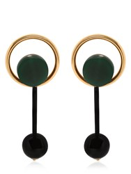 Marni Round Horn Earrings