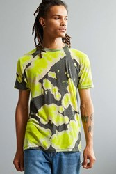 Urban Outfitters Uo Burnout Dye Tee Yellow