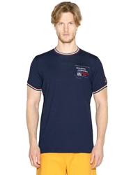 Paul And Shark Embroidered Cotton Jersey T Shirt Navy