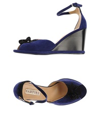 Sartore Sandals Dark Blue
