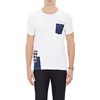 Barneys New York Men's Patch Embellished Jersey T Shirt White