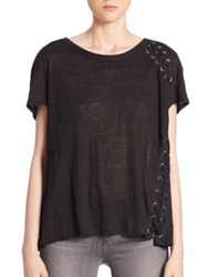 Generation Love Ivy Lace Up Tee Black