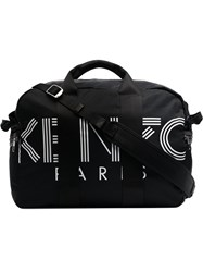 Kenzo Black And White Paris Logo Tote Bag