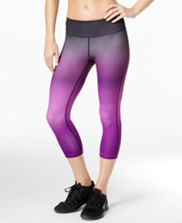 Ideology Cropped Ombre Training Leggings Only At Macy's Push It Purple