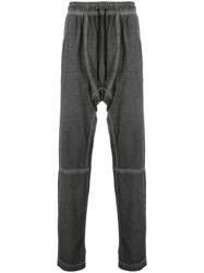 Tom Rebl Dropped Crotch Tracksuit Bottoms Grey
