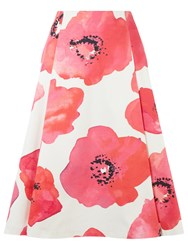 Damsel In A Dress Wild Poppy Skirt White Pink