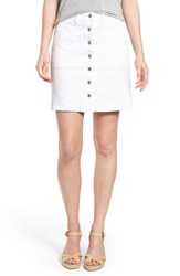 Women's Two By Vince Camuto Button Front A Line Miniskirt Ultra White