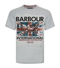 Barbour International Hydro Motorcycle Print T Shirt Male Grey