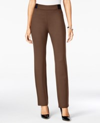 Jm Collection Ponte Pull On Pants Only At Macy's Rockwood Brown