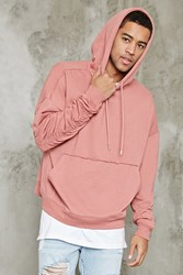Forever 21 Raw Cut French Terry Hoodie Mauve