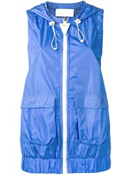 No Ka' Oi Sleeveless Hooded Jacket Blue