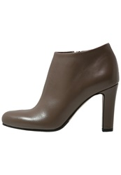 Eden High Heeled Ankle Boots Taupe