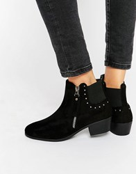 Truffle Collection Low Heel Chelsea Boot Black Mf