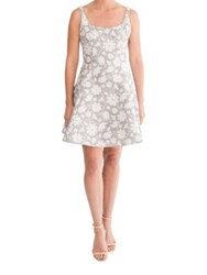 Paper Crown Layla Daisy Fit And Flare Dress Navy Daisy
